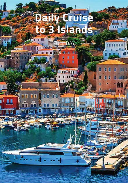 Daily cruise, Greek islands, Aegina, Poros, Hydra