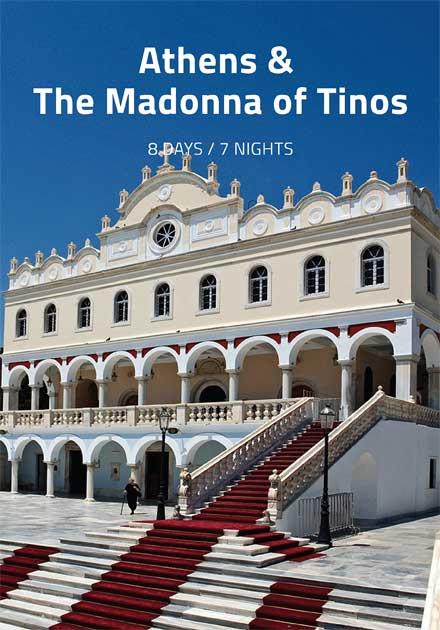 Organized Tours Greece, Athens, Argolis, Delphi, Tinos island